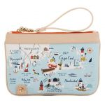Greetings from Northeastern Harbors Zip Wristlet